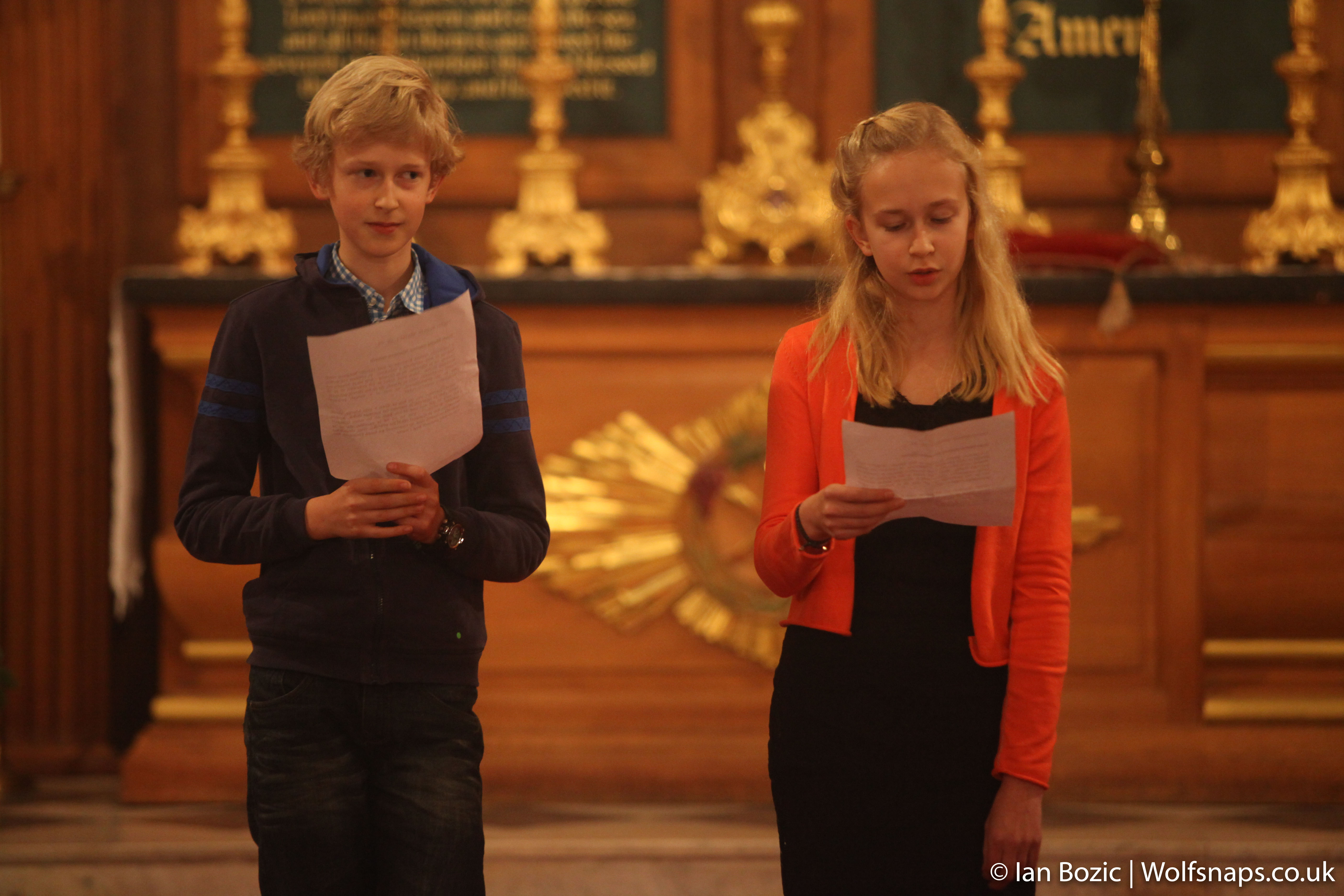 Casper and Lara Hill (mother Slovene, father British) sang solos and read in Slovene